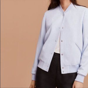 Aritzia Wilfred Poussin Baby Blue Bomber, M